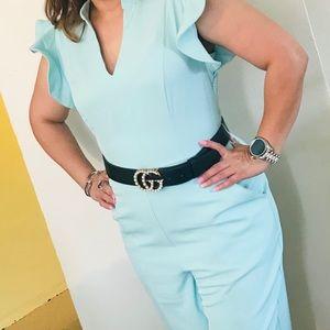 Madie Ruffled-Shoulder Jumpsuit - 7th Avenue